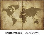 great image of old and worn...   Shutterstock . vector #30717994