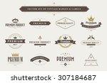 set of vintage  badges and... | Shutterstock .eps vector #307184687
