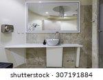 fitness club toilet | Shutterstock . vector #307191884