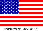 american flag | Shutterstock . vector #307204871