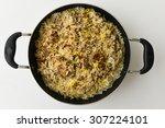 indian chicken biryani biriyani ...   Shutterstock . vector #307224101