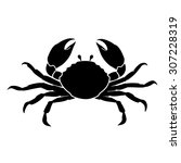 Crab On White Background Vector.