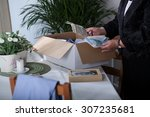 close up of packing souvenirs... | Shutterstock . vector #307235681