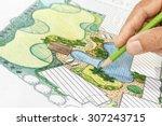 landscape architect design... | Shutterstock . vector #307243715