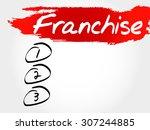 franchise blank list  business... | Shutterstock .eps vector #307244885