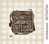 vector typography poster with... | Shutterstock .eps vector #307245764
