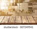 blurred background of kitchen... | Shutterstock . vector #307249541