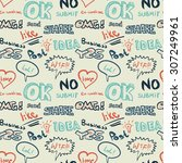 textile seamless pattern on the ... | Shutterstock . vector #307249961