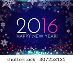 happy new 2016 year. vector... | Shutterstock .eps vector #307253135