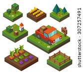 farm  at harvest time.... | Shutterstock .eps vector #307257491