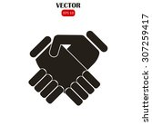 handshake vector illustration | Shutterstock .eps vector #307259417