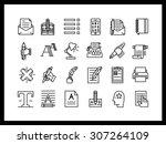 vector icon set in a modern...   Shutterstock .eps vector #307264109