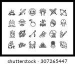 vector icon set in a modern...   Shutterstock .eps vector #307265447