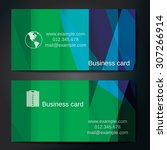 stylish business cards with... | Shutterstock .eps vector #307266914