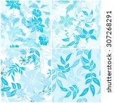 floral seamless pattern  ... | Shutterstock .eps vector #307268291