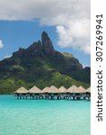 view on mount otemanu through...   Shutterstock . vector #307269941