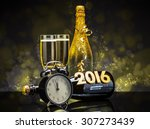 champagne glasses ready to... | Shutterstock . vector #307273439