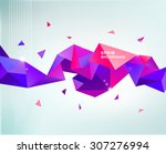 vector abstract colorful purple ... | Shutterstock .eps vector #307276994