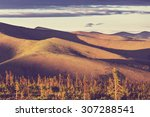 tundra landscapes above arctic... | Shutterstock . vector #307288541