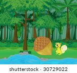 Rainforest And Water Cartoon...
