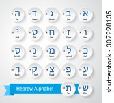 Letters Of Hebrew Alphabet Wit...