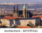 Panoramic View On Prague Castle ...