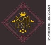 flourishes calligraphic...   Shutterstock .eps vector #307308305