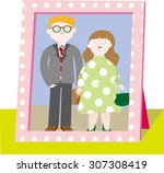 a picture of a close  knit... | Shutterstock .eps vector #307308419