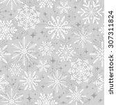 Seamless Christmas Snowflake...
