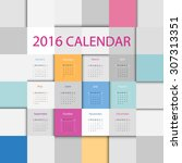 simple 2016 year flat square...   Shutterstock .eps vector #307313351