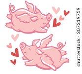 Cute Little Winged Pigs.