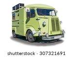 the european retro car. classic ... | Shutterstock . vector #307321691
