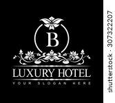 luxury logo template in vector...   Shutterstock .eps vector #307322207