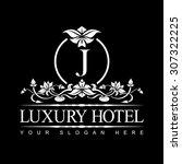 luxury logo template in vector... | Shutterstock .eps vector #307322225
