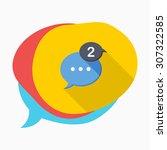 message notice icon  vector...   Shutterstock .eps vector #307322585