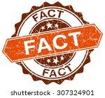 fact orange round grunge stamp... | Shutterstock .eps vector #307324901