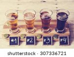 beer tasting   | Shutterstock . vector #307336721