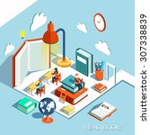 the concept of learning  read... | Shutterstock . vector #307338839