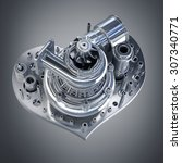 concept. iron heart... | Shutterstock . vector #307340771
