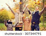 family  childhood  season and... | Shutterstock . vector #307344791