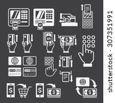 atm icons. vector illustration. | Shutterstock .eps vector #307351991