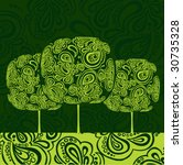 tree   Shutterstock .eps vector #30735328