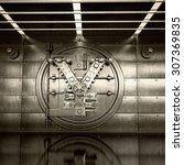 bank vault door. business... | Shutterstock . vector #307369835