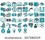 business icon set. these flat... | Shutterstock . vector #307380539