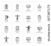 medical   health care icons set.... | Shutterstock .eps vector #307387175