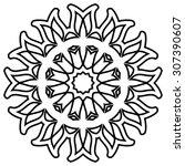 round ornament pattern. vintage ... | Shutterstock .eps vector #307390607