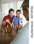 caucasian mid adult mother... | Shutterstock . vector #3073936