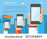 flat design vector illustration ... | Shutterstock .eps vector #307398899