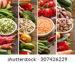 Collage Of Four Legumes In...