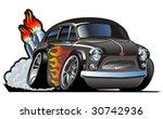 vector retro cartoon hotrod.... | Shutterstock .eps vector #30742936